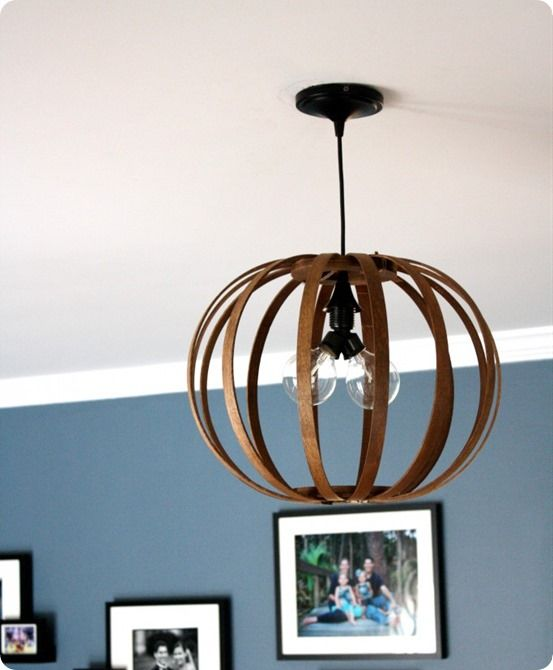 Turn quilting hoops into a pendant light {West Elm inspired}