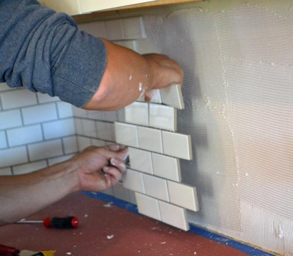 Subway Tile Backsplash Install