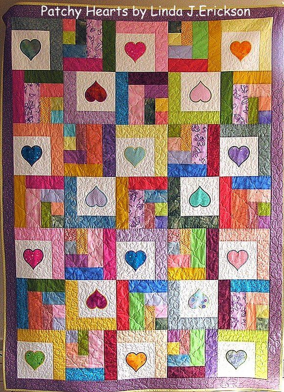 It isn't too late to make a heart quilt for next Valentine's Day.