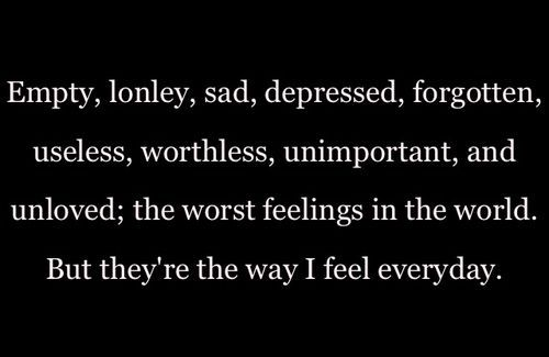 I Feel Sad and Lonely | empty, lonely, sad, depressed, forgotten, ... | Life Lessons, Lyrics ...