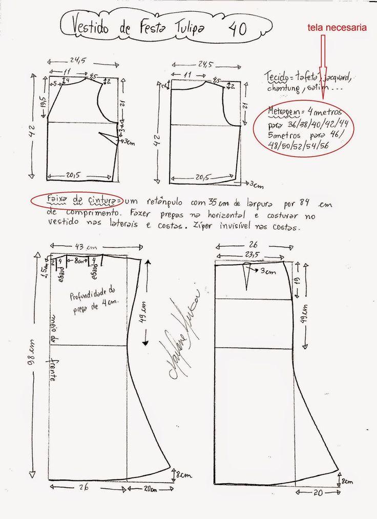 yo elijo coser: Patrón gratis: vestido de fiesta Rosa Clará (tallas 36-56)