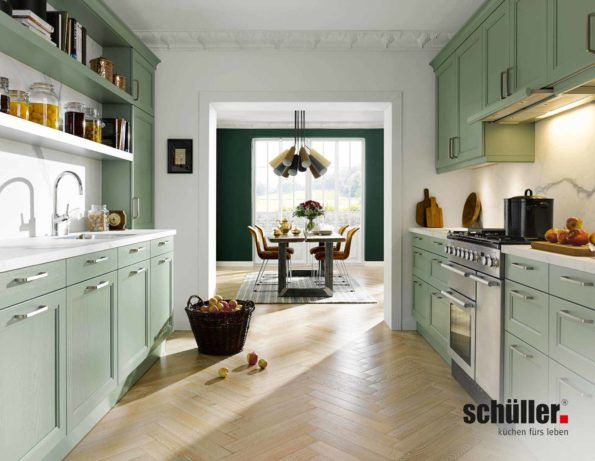 Landhausküche finca in grün von schüller küchen landhausküche grün landhausstil küche