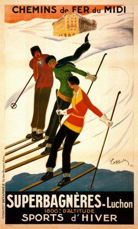 Superbagnères-Luchon, sports d'hiver Affiches par Leonetto Cappiello sur AllPosters.fr