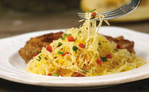 #Epicure Spaghetti Squash with Peppers #MeatlessMonday