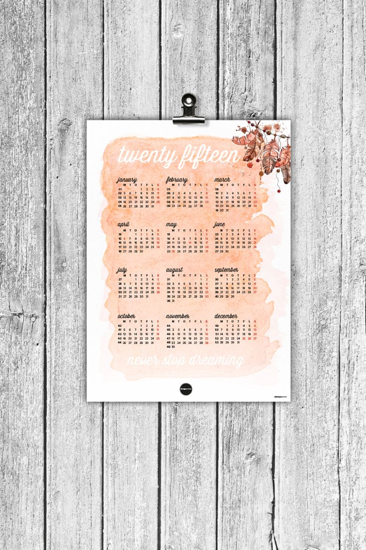 ~ Calendar 2015 ~ made by Designparken. Designparken. Follow on instagram: @designparken