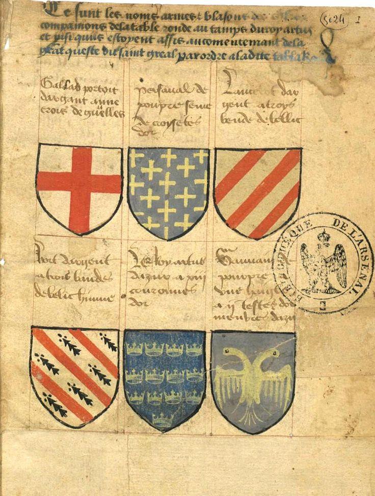 Ce sunt les noms armes et blasons des chevaliers - Nom des chevaliers de la table ronde ...