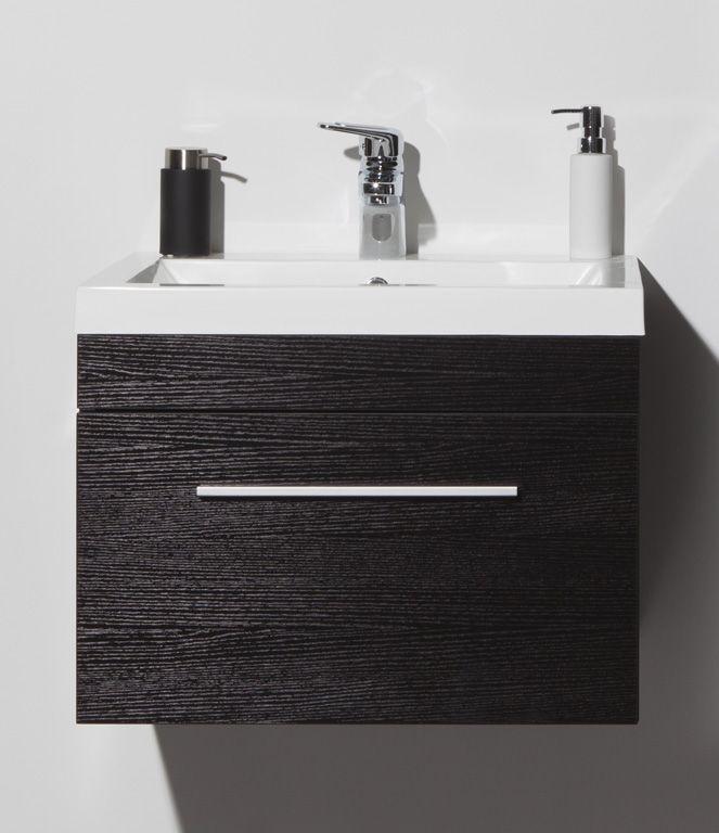 -  wastafelkast met 1 grote lade 890 x 460 x 495 mm -  wastafel in witte polybeton 890 x 50 x 495 mm -  met matte aluminium handgreep -  kraan, spiegel of spiegelkast en kolomkast in optie aan meerprijs