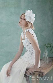 Such a chic and unique combination of materials! Wedding dress by @Ioanna Kourbela