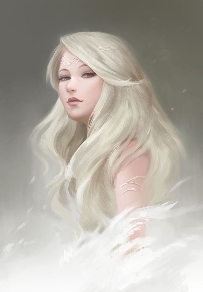 Going to be doing some face practice these few weeks... ----------------- reference used : White Fairy - Stock MariaAmanda