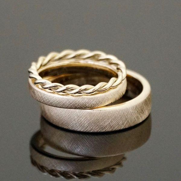 Eheringe - Eheringe VINTAGE SET Kordelring - ein Designerstück von mein-Lieblingsring bei DaWanda