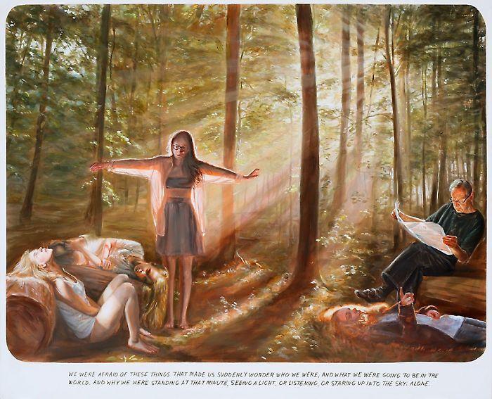 Muntean Rosenbaum, Untitled (We are afraid...), 2012, oil on canvas,  180,5 x 220,5 cm