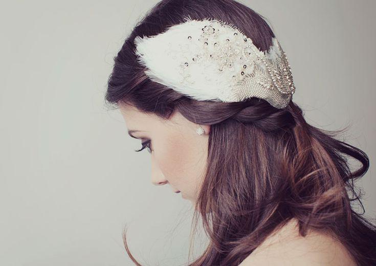 Bridal hair accessory by @Viktoria Novak-Milliner. Photo by Elanna Woods. #weddinghair