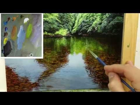 #47 How to paint a Shallow River - YouTube