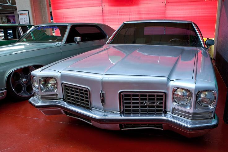 Vintage Light Blue Oldsmobile