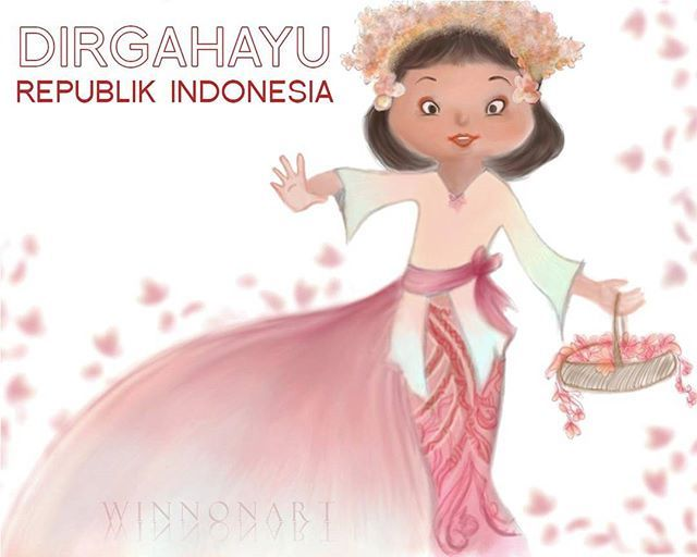 Happy Independence Day 71 Indonesia! Merdeka .  #ProudToBeIndonesian #indonesia #wonderfulindonesia #indonesiabisa #IndependenceDay #RI71 #digipaint #drawing #artwork #art #bali #balinese #traditional #exploreindonesia #explorebali #indonesiabculture #culture #nationalism #Freedom #pesonaindonesia #winnonart