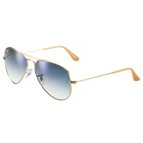 Ray-Ban modelo Rb3025/001/3f/55 #Compras #DutyFree O Ray-Ban modelo RB3025, Aviator Gradiente, tem suas famosas lentes em formatos de gota, originalmente desenvolvido para os U.S aviadores, o óculos Aviator se tornou um ícone da moda. Sua armação é em metal dourado com hastes finas de 13,5cm com lentes gradientes polarizadas de cristal tamanho 58 na cor azul, garantindo um visual mais cool associado aos movimentos cults.