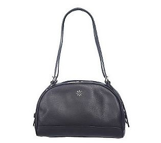 ISAACMIZRAHILIV Pebble Leather Double Strap Domed Satchel: Double Straps, Domes Satchel, Pebble Leather, Super Saturday, Qvc Super, Isaacmizrahiliv Pebble, Straps Domes, Products, Leather Double