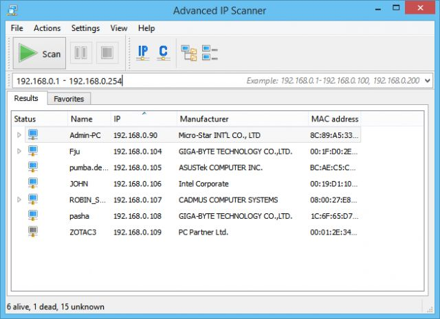 Advanced IP Scanner is a reliable and free Windows port scanner to analyse members of a LAN. The program shows all network devices & much more.