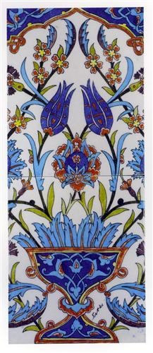 Turkish floral tiles by Sıtkı Olçar