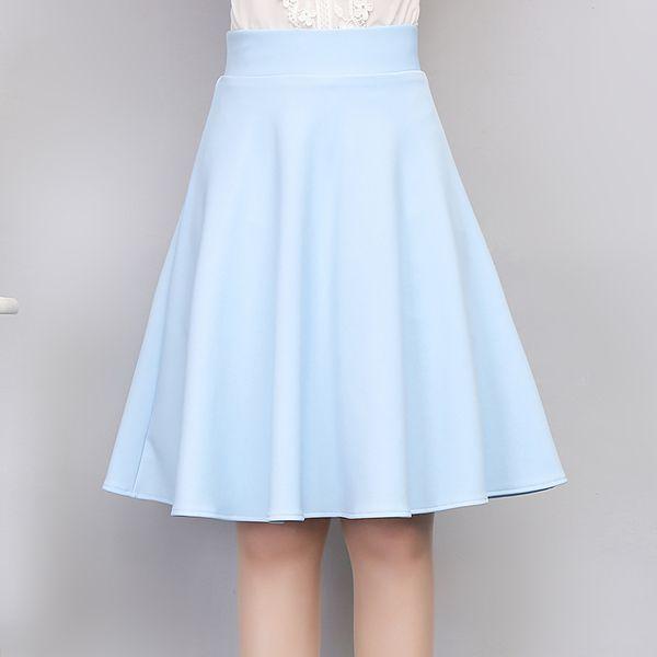 Весной и летом 2017 многоцветной шифон A-Puff юбки талии эластичная юбка новая юбка дикий пассивом