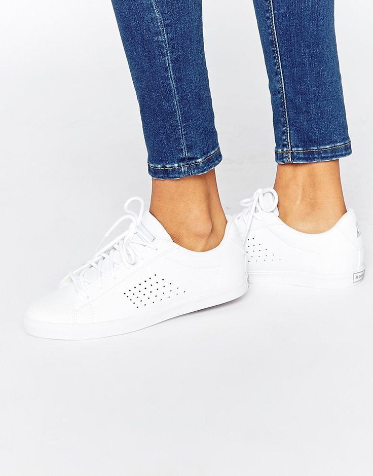 Le+Coq+Sportif+Agate+White+Leather+Trainers
