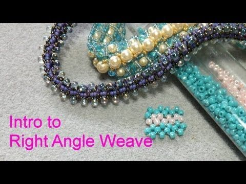 Intro to Right Angle Weave Tutorial - YouTube Finally a video where the tut. stays in front of the camera, goes slow enough to understand and is very understandable: Thank you sooo much Jewelry Diva:)