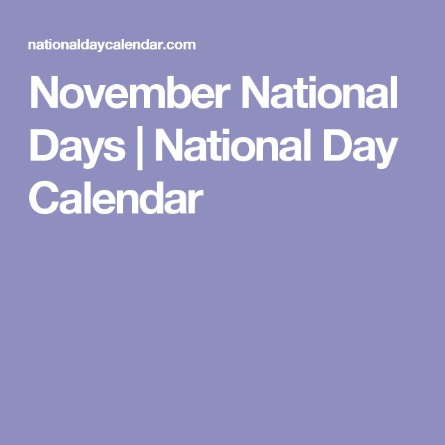 November National Days | National Day Calendar
