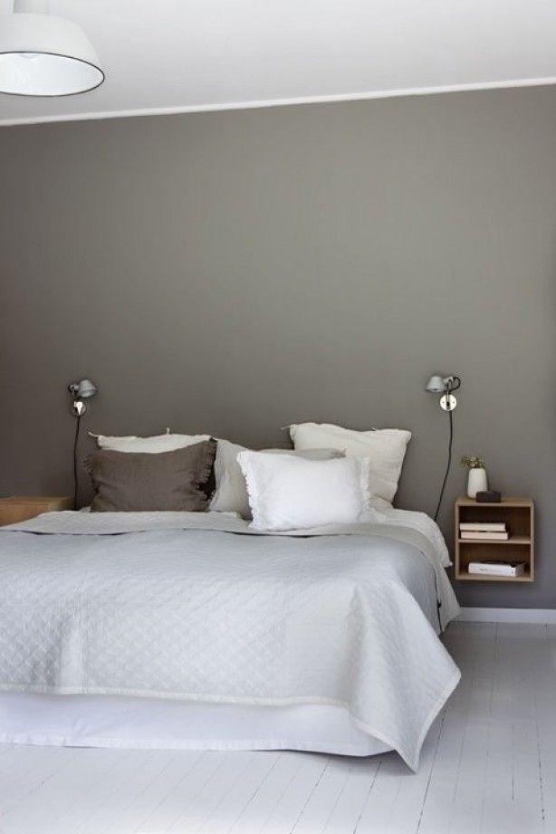 grijstinten slaapkamer, simpel en mooi
