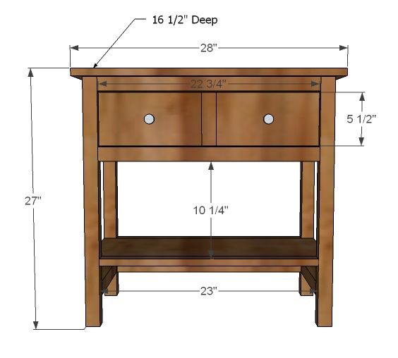 Bedside table plans free woodworking projects plans for Free nightstand woodworking plans
