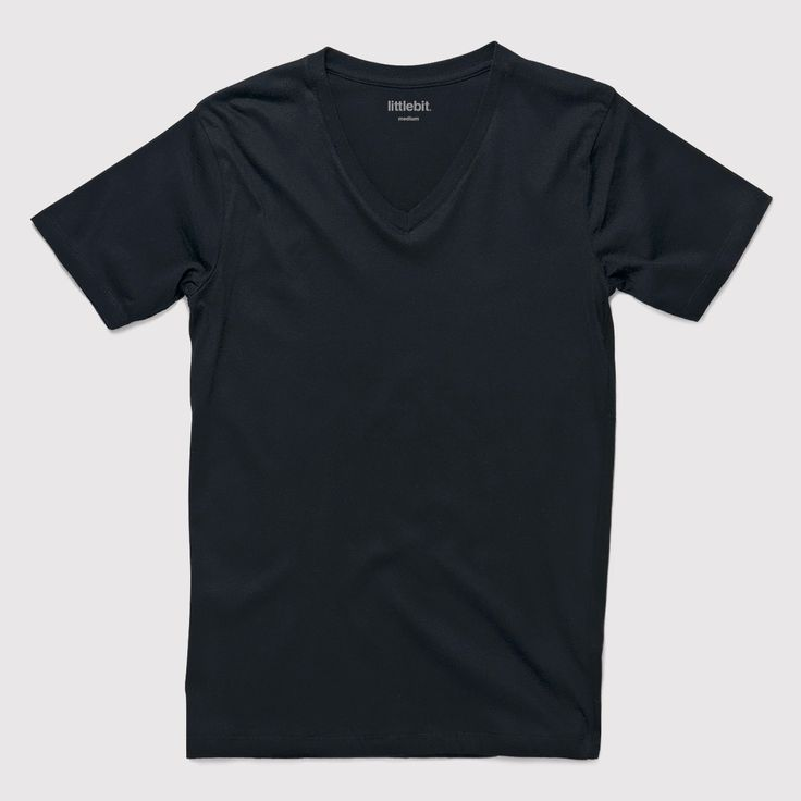 Great quality littlebit mens v-neck basic t-shirt. 100% soft cotton. Available in white and black. Get a #littlebit #mens #tee at littlebit.com/men.html. #mensclothing #menstees #vneck #basics #casual.