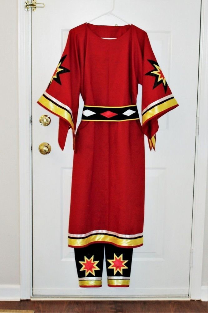 Details about Native American Ribbon Blouse, Powwow Regalia 1