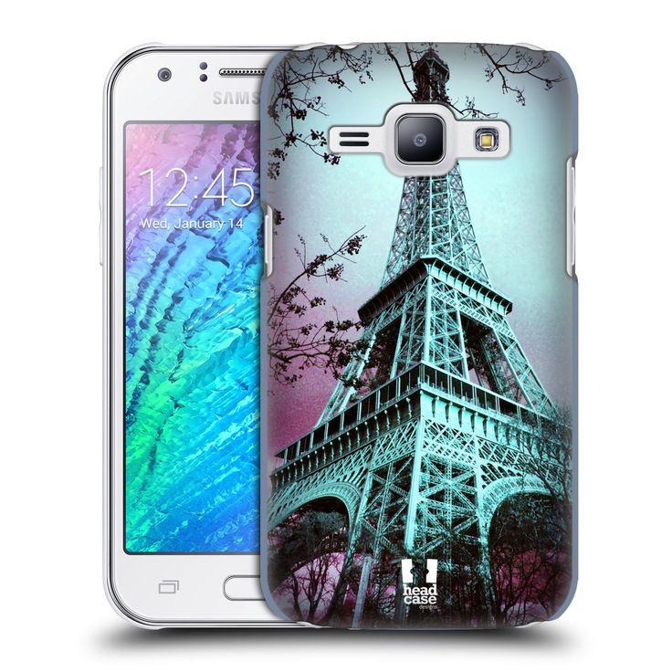 Pouzdro na mobil Samsung Galaxy J1 HEAD CASE RŮŽOVOMODRÁ AIFELOVKA
