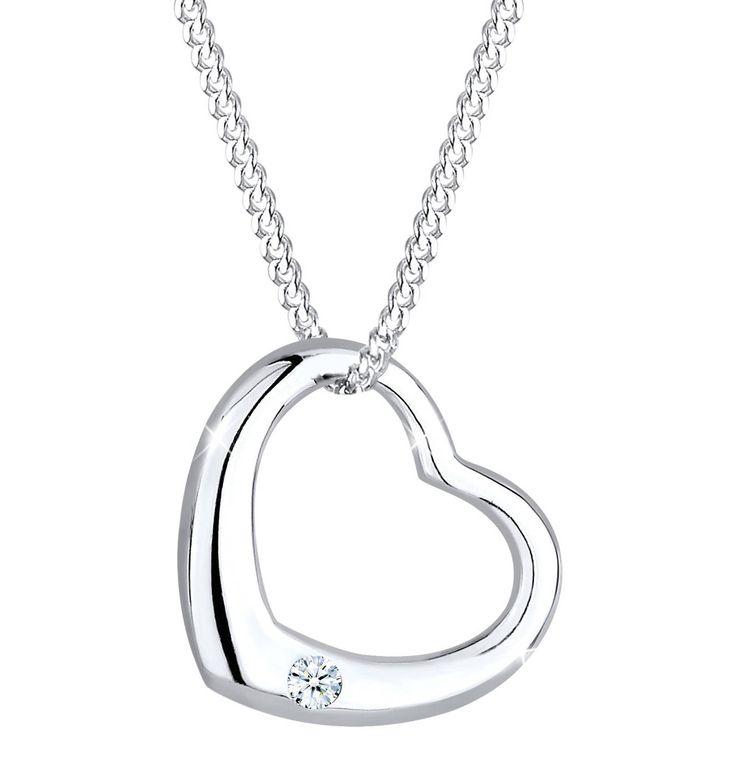 Halskette Herz Liebe Diamant (0.03 Ct.) 925 Silber – GALERIA Karstadt Kaufhof