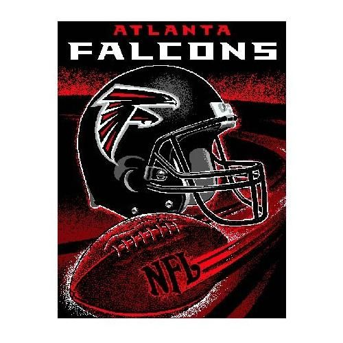 "Atlanta Falcons Throw - This 48"" x 60"" loom woven triple-layer jacquard throw blanket is made of 100% acrylic and features a football spiral design. - $39.99"