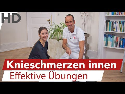 Knieschmerzen Innenseite, Innenbänder, Innenmeniskus Übungen - YouTube