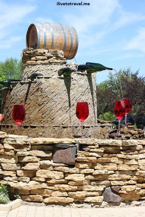 Gardens at the Milestii Mici winery in Moldova