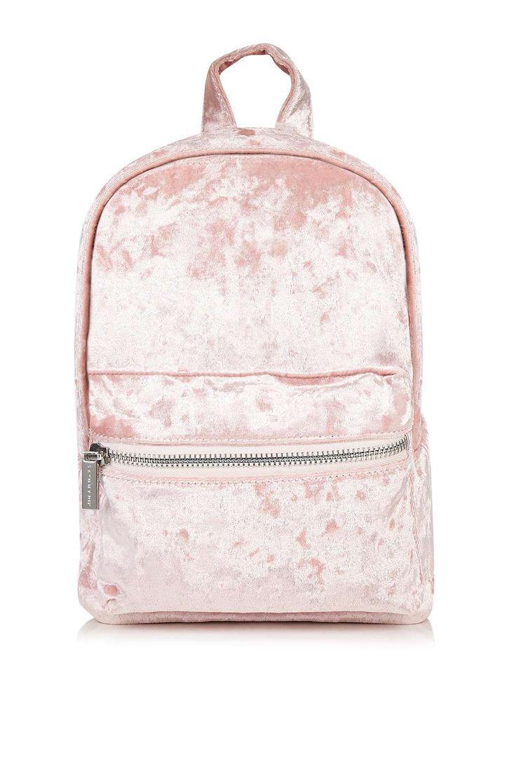 **Pink Velvet Backpack by Skinny Dip