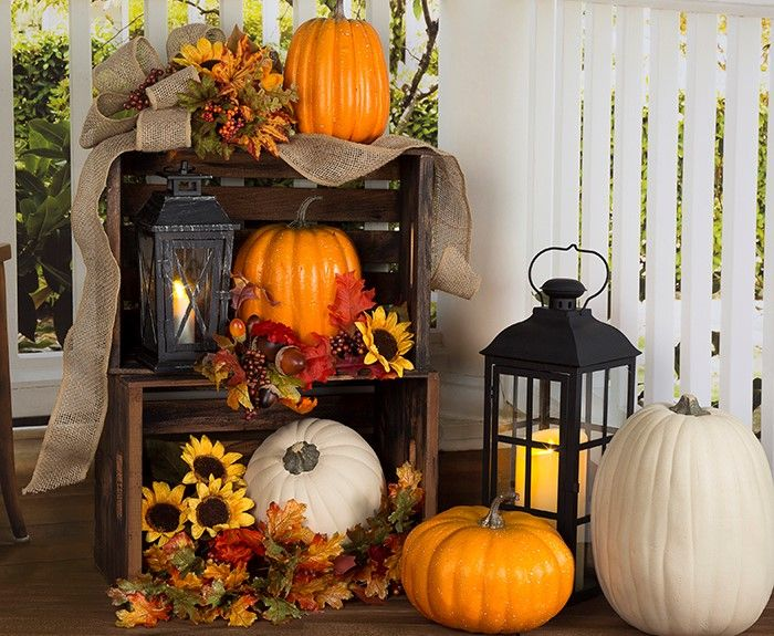 turn your front door into a festive fall faade with our 10 fall front porch ideas - Fall House Decorations