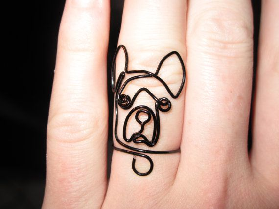 Wire Wrapped Boston Terrier or Any Dog Head MADE to by 1ofAkinds, $7.00