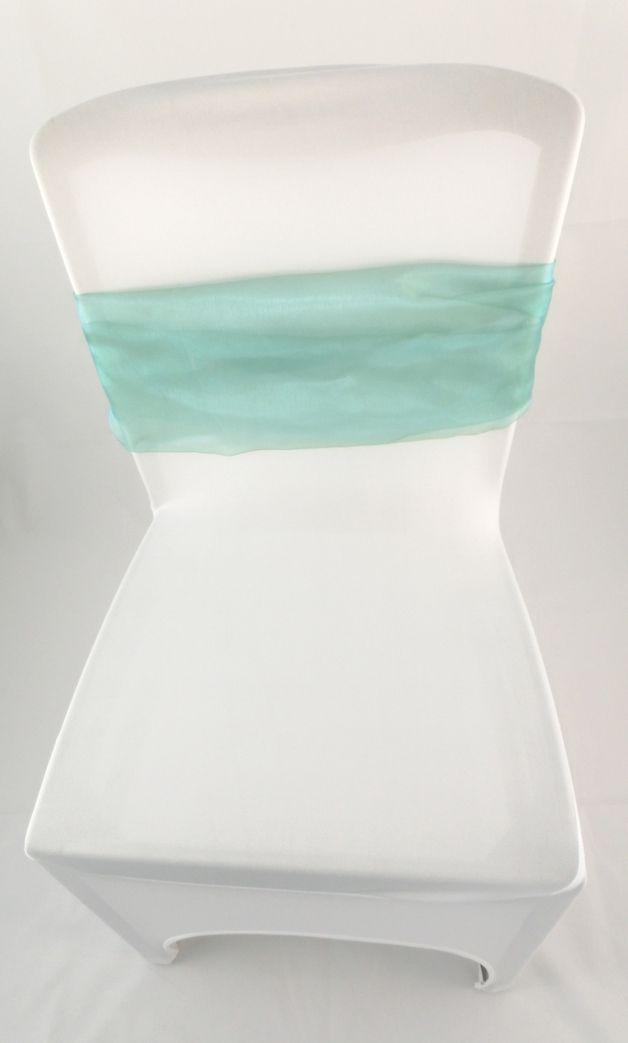 Hochzeitsdeko - Weiße Universal-Stuhlhussen STRETCH mieten - ein Designerstück von lanie_me bei DaWanda