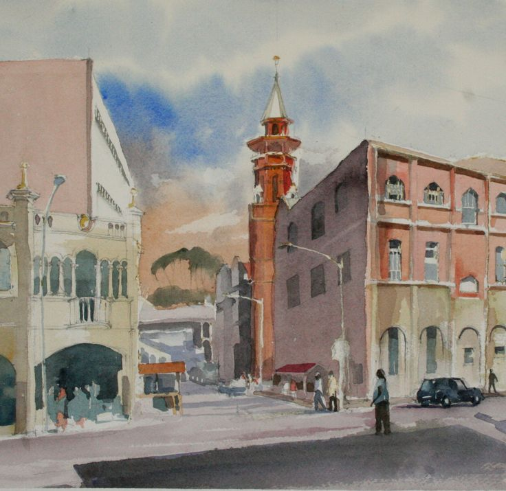 Emmanual Cathedral (2)  Watercolour by Peter Croxon  On exhibition from 27 Nov, at Elizabeth Gordon Gallery, Durban