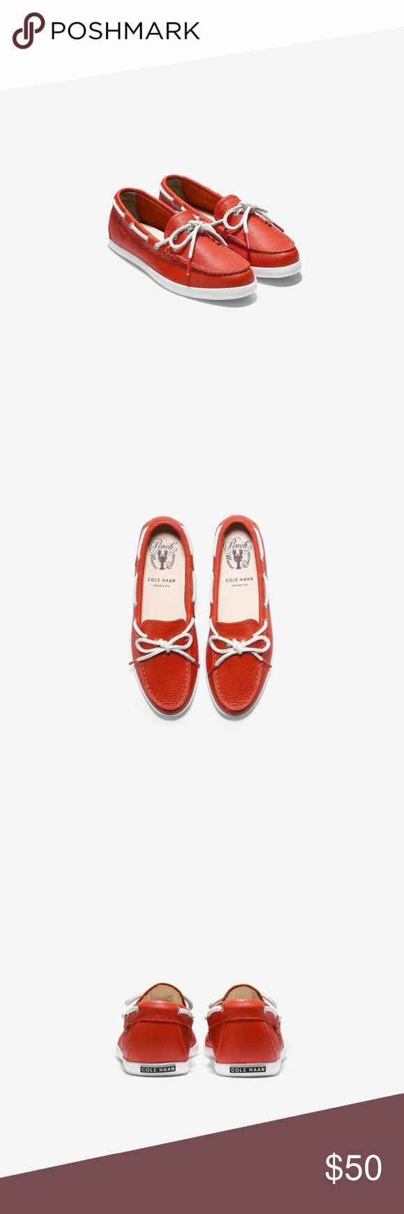 Cole Haan Women's Pinch Weekender Camp Moc - Citru Cole Haan Women's Pinch Weekender Camp Moc - Citrus Red Leather Sale price Cole Haan Shoes