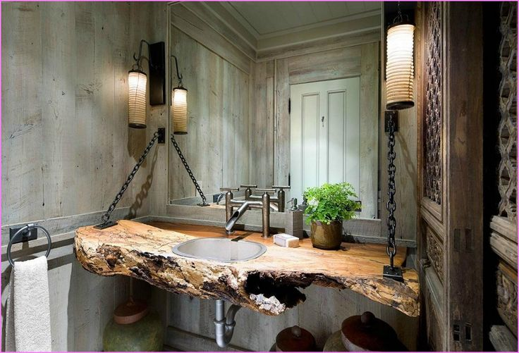 1000+ Ideas About Rustic Bathroom Lighting On Pinterest