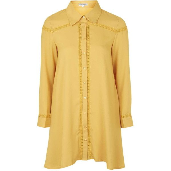 Shirt Dress by Glamorous Petites (€26) ❤ liked on Polyvore featuring dresses, mustard, petite, shirt dress, button front shirt dress, mustard yellow dress, topshop dresses and topshop