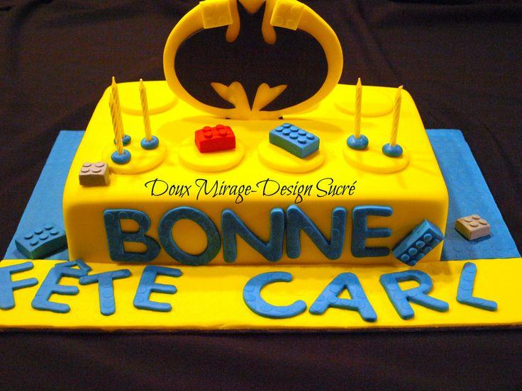 Batman Lego cake