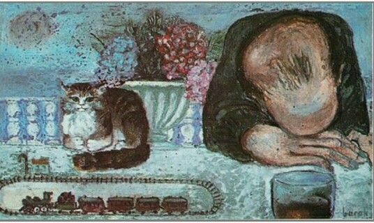Cihat Burak'ın fırçasından Edip Cansever