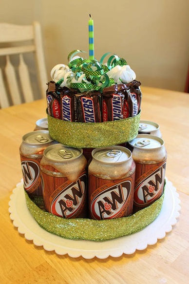"""alternate """"cake"""", strongbow at the bottom, something else at the top"""