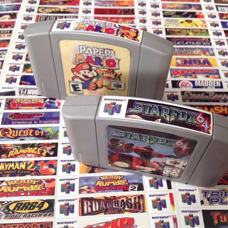 Nintendo N64 End Labels Includes Full Library Etsy In 2021 Nintendo N64 Nintendo N64