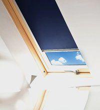 Sonnenschutz, Rollo, blau, Dachfenster