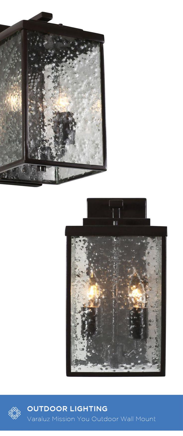 79 best outdoor lighting images on pinterest exterior lighting varaluz mission you glossy bronze two light outdoor wall mount w hand pressed recycled glass aloadofball Images